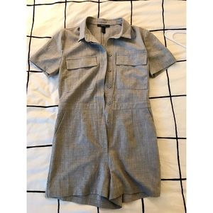 Forever 21 grey jumpsuit